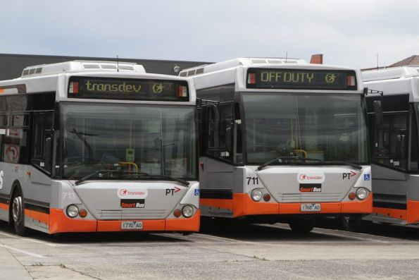 Transdev buses #713 rego 1770AO and #711 rego 1768AO at the North Fitzroy depot