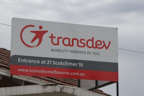 Transdev signage at their North Fitzroy depot
