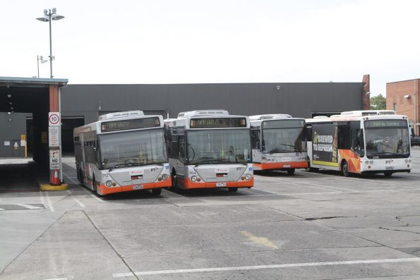 Collection of Transdev buses at the North Fitzroy depot
