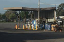 Bus refuelling area at the Site depot in West Footscray