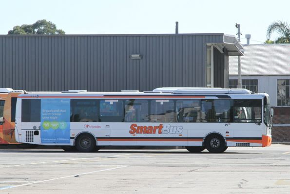Smartbus liveried Transdev bus at the North Fitzroy depot