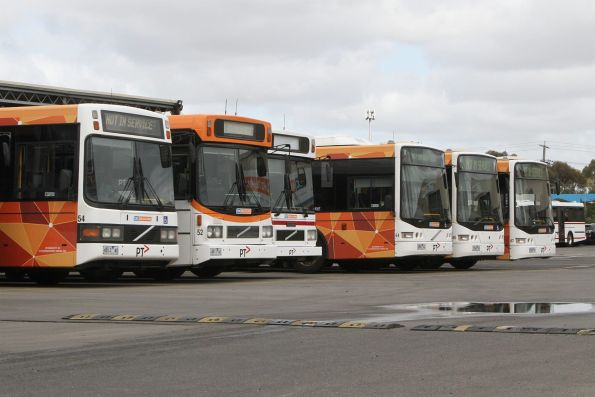 CDC Melbourne buses at their depot in Sunshine