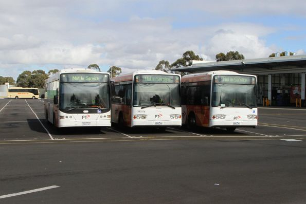 Transdev buses #426 7826AO, #376 4080AO and #379 4083AO at the depot in Sunshine