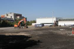 Demolition and remediation work underway at the former Transdev bus depot in Footscray
