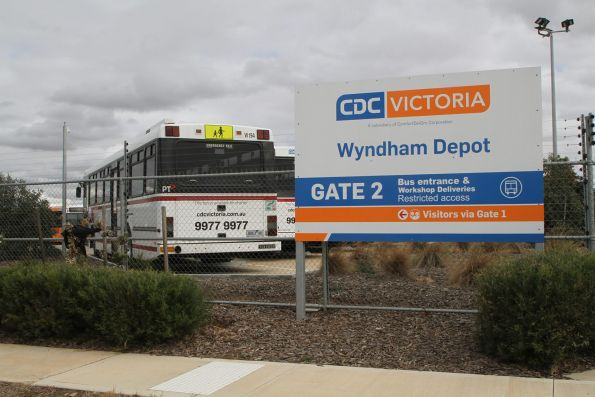 Outside the CDC Melbourne Wyndham depot