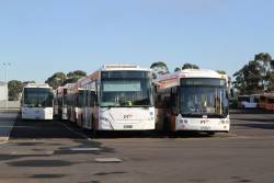 Transdev buses #105, #115 BS01GT and 2170AO at the Sunshine West depot
