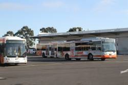 Transdev buses 2170AO and 7492AO at the Sunshine West depot