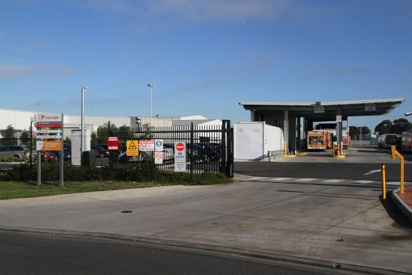 Street entrance to the Transdev depot at Sunshine West