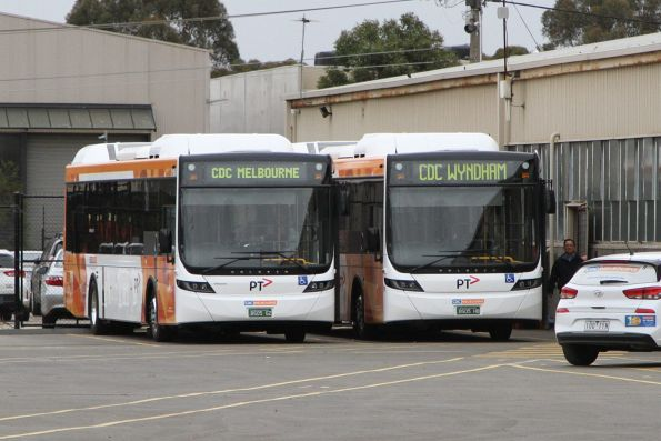 CDC Melbourne buses BS05GZ and BS05HB at the Sunshine depot