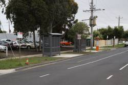 New bus stops outside South Geelong station, in Yarra Street at the former taxi rank