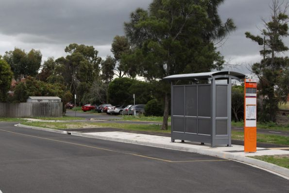 New bus stop outside South Geelong station, at the corner of Yarra and Lonsdale Streets