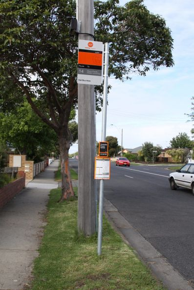 Bus stops in Geelong now with individual bus stop number panels on them