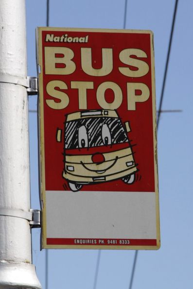 Another old National bus stop sign in Kew