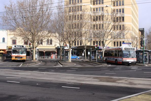 Bus interchange at Moonee Ponds Junction