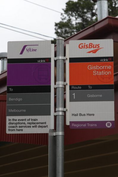 'GisBus' bus stop at Gisborne station