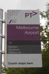 V/Line coach stop at Melbourne Airport