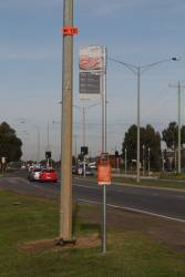 Yet to be unveiled bus stop for routes 150, 151, 169 and 170 along Derrimut Road, Tarneit
