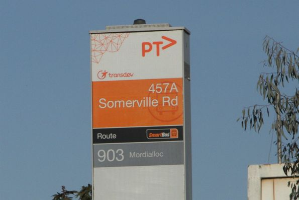 '457A Somerville Road' bus stop on route 903 through Brooklyn