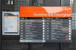 Route 422 and 426 now displayed at the Sunshine bus interchange
