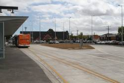 Bus loop at the new Huntingdale station interchange