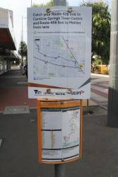 Promotion at Sunshine bus interchange for the new route 426 service to Caroline Springs