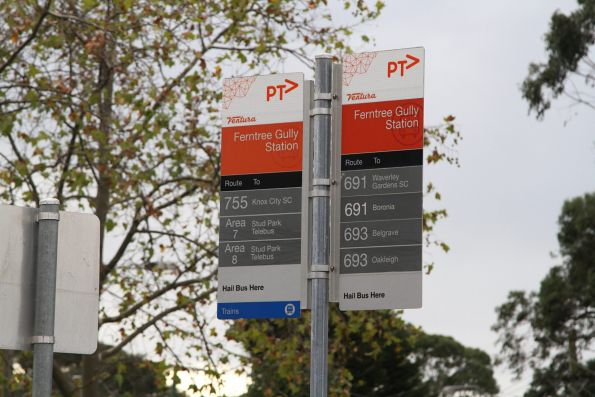 Bus routes from Ferntree Gully station