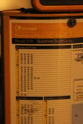 Bus timetable showing twice as many buses than actually run