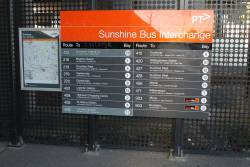 A few modifications to the bus route listing at Sunshine station