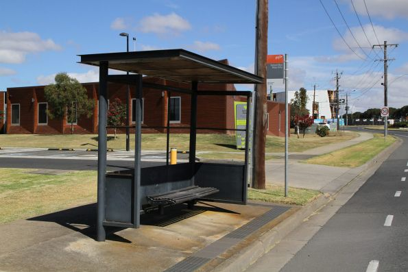 'School bus stop only' on Reynolds Road, Belmont