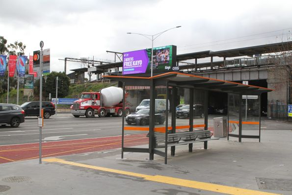 New southbound route 246 bus stop on Punt Road at Richmond station
