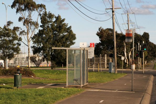 Route 232 bus stop outside the Toyota factory in Altona North