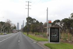Bus stop in the middle of nowhere on Dynon Road, West Melbourne