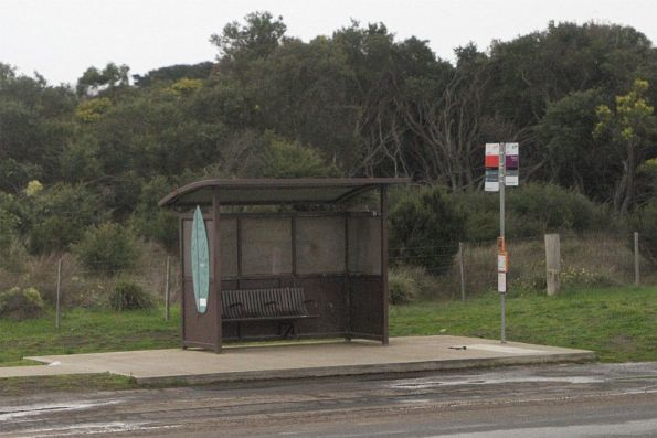 Bus stop on the outskirts of Torquay