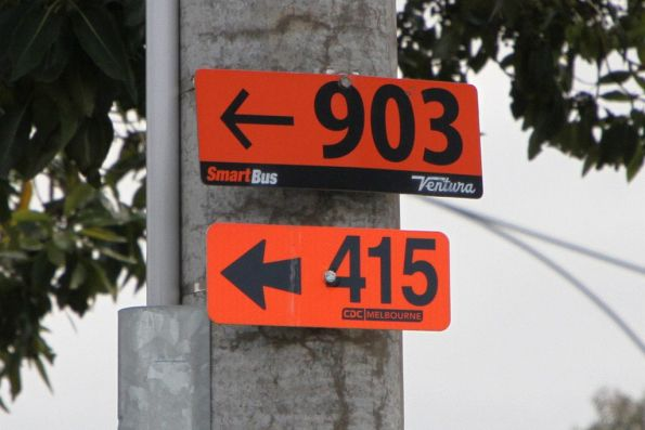 Bus route directions in Altona: Ventura route 903 and CDC Melbourne route 415
