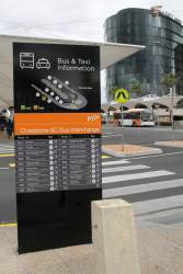 Directional signage at the Chadstone Shopping Centre bus interchange