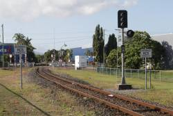 Signal CS14 for southbound trains arriving into Cairns