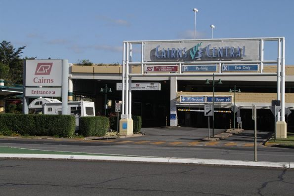 Southern entrance to the Cairns station car park, part of the Cairns Central shopping centre