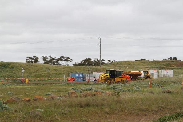 Site compound at the HCMT light service facility (LSF) at Calder Park