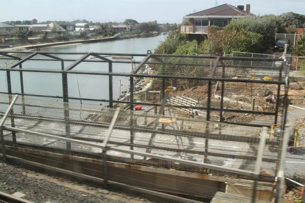 Building the new Station Street bridge over the Patterson River at Carrum