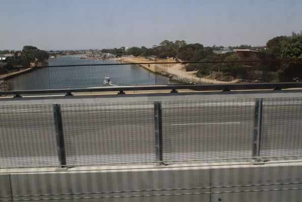 Completed Station Street bridge over the Patterson River at Carrum
