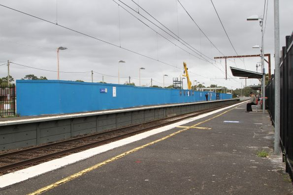 Down platform demolished at Noble Park station to make room for the new rail viaduct