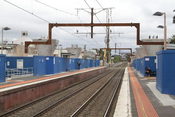 Piers in place to support the future rail viaduct at Carnegie