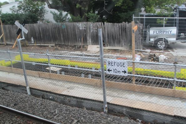 Piling works between Carnegie and Murrumbeena stations