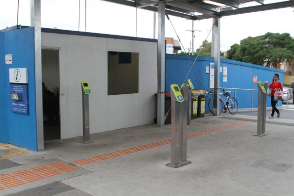 Temporary entrance to Clayton station platform 2