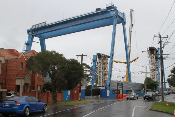 First gantry crane completed, second crane being assembled at Murrumbeena