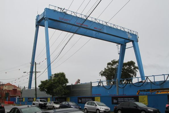 First gantry crane completed and standing alone at Murrumbeena