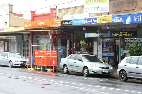 Portable generators used to power shops at Murrumbeena