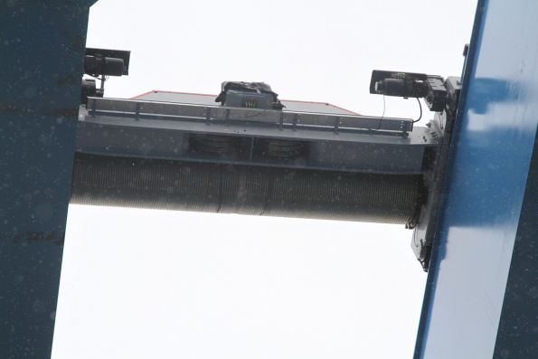 Winch mechanism on the gantry crane at Murrumbeena