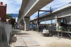 Viaduct spans in place west of Murrumbeena station