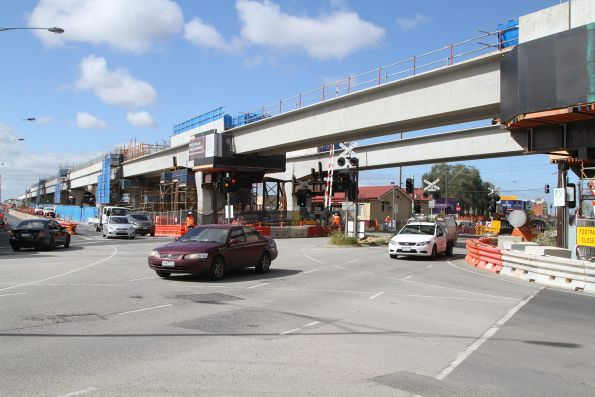 Bridge spans in place across Clayton Road, Clayton